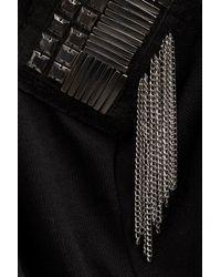 TOPSHOP Black Tassel Cardigan By Wal G