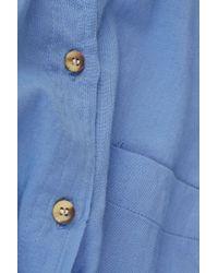 TOPSHOP Blue Chambray Oxford Shirt