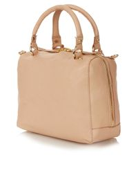 TOPSHOP Natural Mini Sienna Padlock Bag