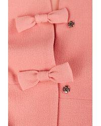 TOPSHOP Pink Bow Front Crop Jacket