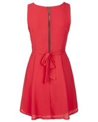 TOPSHOP Pink Cross Bust Dress By Wal G