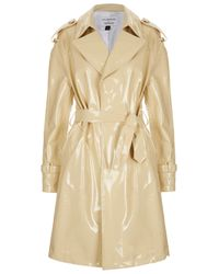 TOPSHOP Natural Patent Leather Mac