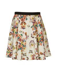 TOPSHOP White Fluro Tapestry Print Skirt