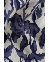 TOPSHOP Multicolor Silk Floral Dress
