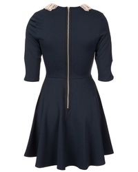 TOPSHOP Blue Pearl Collar Dress By Love