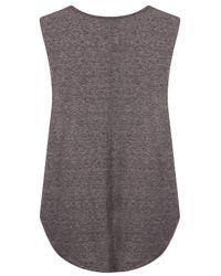 TOPSHOP Gray Black Cat Arizona Vest