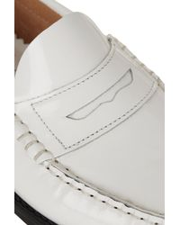 TOPSHOP White Leather Loafers