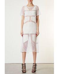 TOPSHOP White Velvet Organza Dress By Boutique