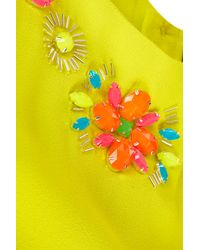 TOPSHOP Yellow Embellished Detail Shell Top