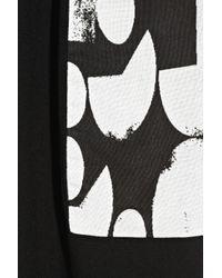 Zero + Maria Cornejo Black Illia Jacquard-trimmed Crepe Top