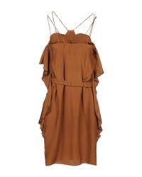 Archivio Privato Brown Short Dress