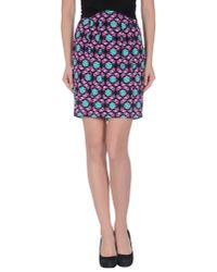 Just Cavalli | Black Knee Length Skirt | Lyst