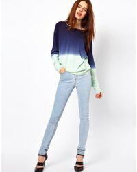 Sam Ubhi Blue Just Female Stroke High Waist Skinny Jeans