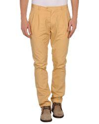 Pence Orange Casual Trouser for men
