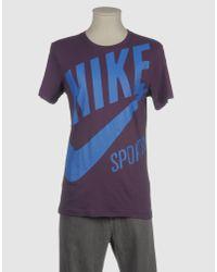 Nike Purple Short Sleeve T-shirt for men