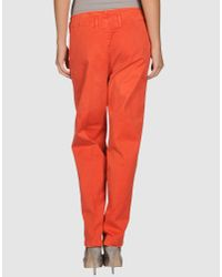 Pence Red Casual Trouser