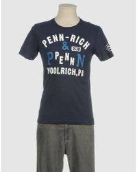 Penn-Rich Blue Short Sleeve T-shirt for men