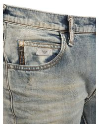 Armani Jeans Blue 185cm Vintage Washed Slim Fit Jeans for men