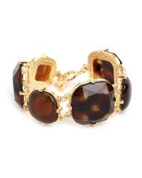 BaubleBar | Brown Tortoise Gem Bracelet | Lyst