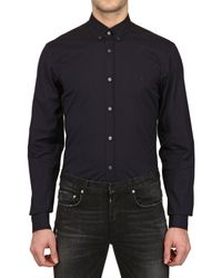 Burberry Brit Blue Button Down Collar Stretch Poplin Shirt for men