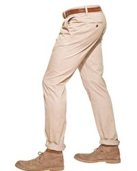 Closed Natural 18cm Twill Clifton Slim Chino Trousers for men