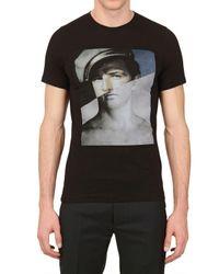 Dead Meat Black Marlon Printed Jersey T-shirt for men