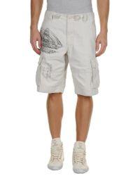 Denim & Supply Ralph Lauren White Bermuda Shorts for men