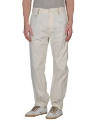 DIESEL - White Casual Trousers for Men - Lyst