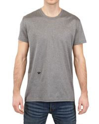 Dior Homme Gray Bee Embroidered Jersey T-shirt for men