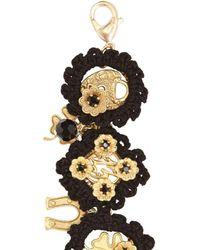 Dolce & Gabbana | Black Macramé Cotton Lucky Charm Bracelet | Lyst