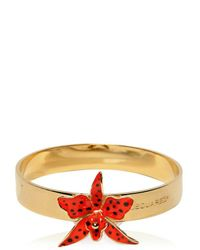 DSquared² | Metallic Orchid Enameled Brass Rigid Bracelet | Lyst