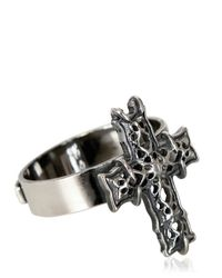 Emanuele Bicocchi | Metallic Sterling Silver Cross Ring for Men | Lyst
