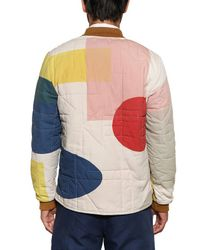 Folk Multicolor Quilted Cotton Canvas Casual Jacket for men
