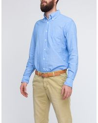 Gant Rugger | Blue Selvage Madras for Men | Lyst