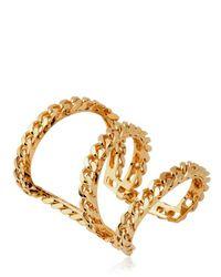 Giuseppe Zanotti Metallic Gold Plated Brass Chain Bracelet
