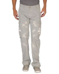 Iceberg Gray Casual Trousers for men