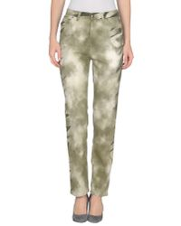 Krizia Jeans - Natural Casual Pants - Lyst