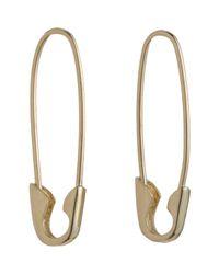 Loren Stewart | Yellow Gold Safety Pin Earrings | Lyst