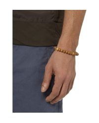 Luis Morais Metallic Diamond Gold and Sandalwood Bracelet for men