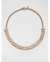 Marc By Marc Jacobs | Metallic Textured Chain Link Necklace | Lyst