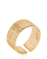 Maria Francesca Pepe - Metallic Midi Finger Light Gold Ring - Lyst