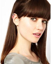 Maria Francesca Pepe - Metallic Spiked Ear Cuff - Lyst