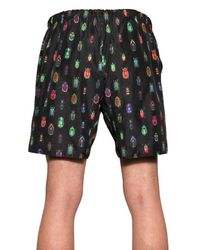 Markus Lupfer Black Reversible Beetle Print Bathing Suit for men