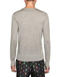 Markus Lupfer Gray Merino Wool Neon Beetle Jumper for men