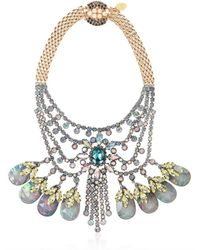 Mawi | Pink Tiered Crystal Necklace with Teardrops | Lyst