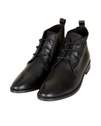 TOPSHOP Black Model Lace Up Vintage Boots