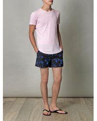 Orlebar Brown Pink Tommy Crewneck T-Shirt for men
