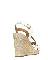Palomitas By Paloma Barcelo' White 110mm Patent Rope Sandal Wedges