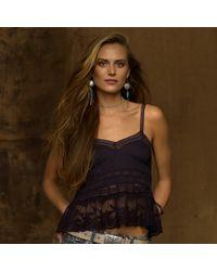 Ralph Lauren   Blue Lace Camisole   Lyst