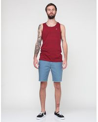RVCA | Red Crindle Tank for Men | Lyst